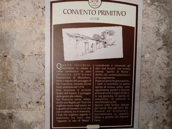 Monteluco, Ιταλία: Convento primitivo.