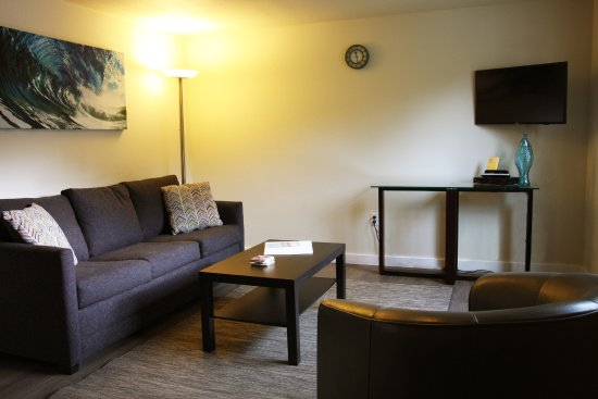 Netarts, OR: Room #2 - One bedroom suite with kitchenette and sleeper sofa.