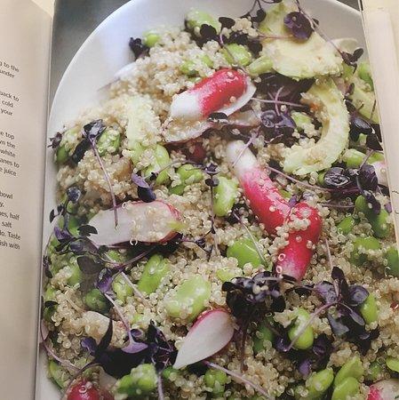 Basil: Avocado, quinoa and broad bean salad