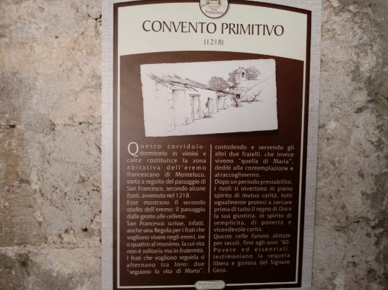 Monteluco, Italia: Convento primitivo.