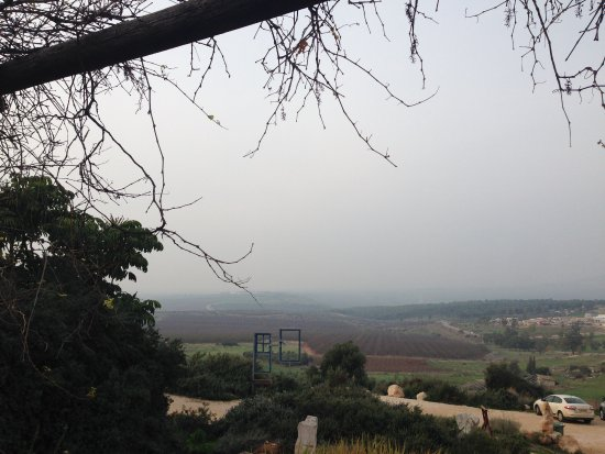 Afula, Israel: The view across the Jezreel Valley towards Nazareth from the Restaurant