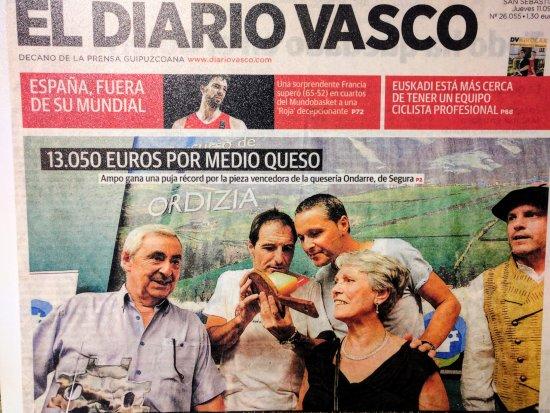 Segura, Spania: Visita quesería D.O. Idiazabal Ondarre