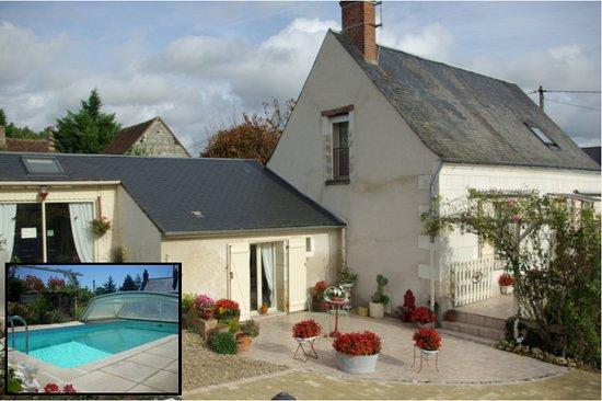 La Croix-en-Touraine, Francia: La Tourangelle et sa piscine