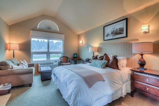 Maritime Inn: The Monitor Room (#1), this room has a love seat sofa sleeper