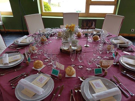 Pandorado, إسبانيا: Mesa lista para una boda