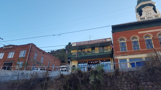 Hotel La More / The Bisbee Inn: Hotel on left, bar in the middle, and that one on the right is for sale!