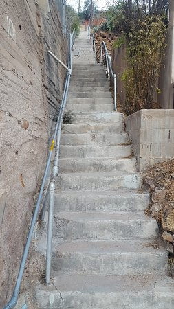 Hotel La More / The Bisbee Inn: There are stairs all around Bisbee!