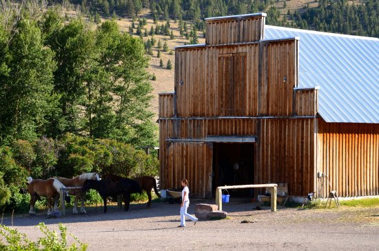Wolf Creek, MT: The barn at the Rocking Z Guest Ranch