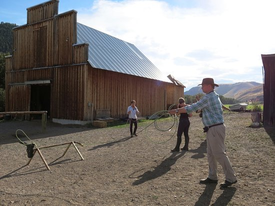 Wolf Creek, MT: Learning to Rope or Lasso at the Rocking Z Guest Ranch