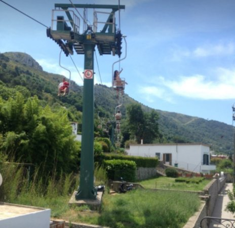 Mount Solaro: The chairlift to the Top