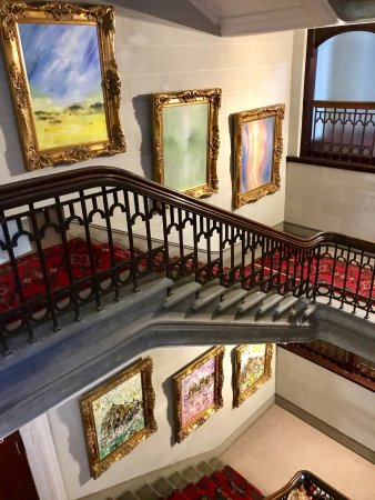 "Camelot Castle Hotel: Grand staircase with the ""art"""