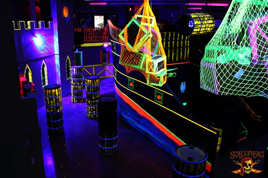 Laser Tag Arena Two Stories Tall Picture Of Scallywag