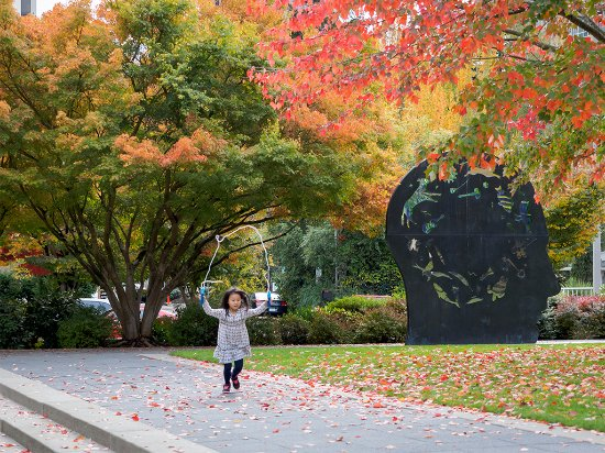 Double Inquiry; one of 130 pieces of public art in downtown Bellevue - Photo by Visit Bellevue