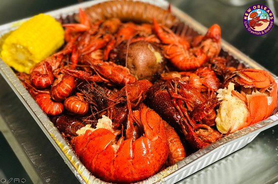 Live Crawfish Seafood Restaurant Combo With Lobster Tails And Corn