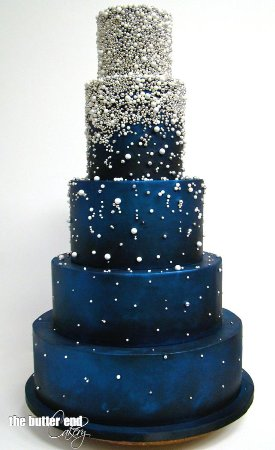 Avondale, AZ: Cake we ordered. Asked for three tiers, edible glitter instead of pearls, and buttercream.