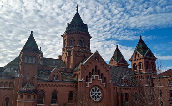 La Crosse, WI: The exterior of Mary of the Angels Chapel.