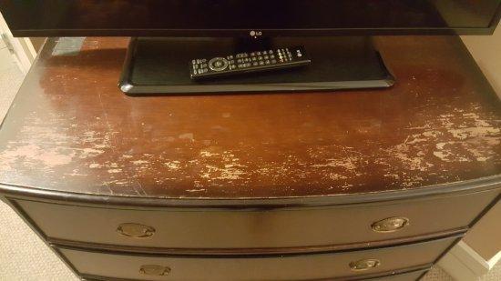 Hyatt Regency Cleveland at The Arcade: TV dresser ... in distress