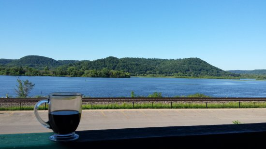 Trempealeau, WI: View from second floor balcony