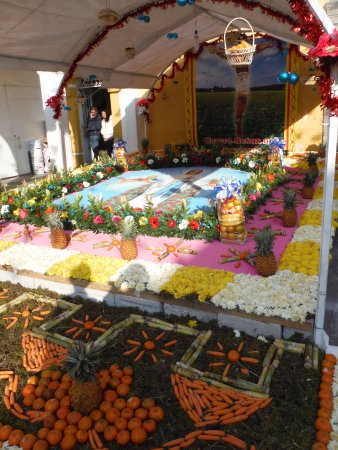 Huamantla, Meksika: Outside altar for the Lord of the convent, in the celebration of festivity.