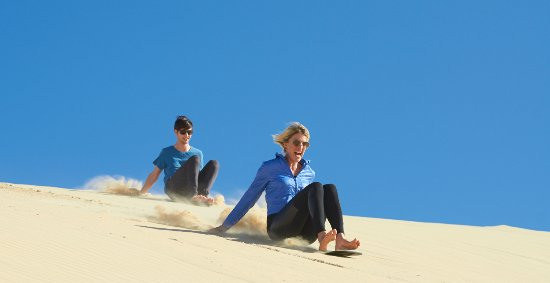 Sandboarding Fun Stockton Sand Dunes, Anna Bay, Port Stephens