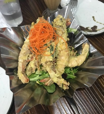 Ashfield, Australia: Salted egg and butter prawns