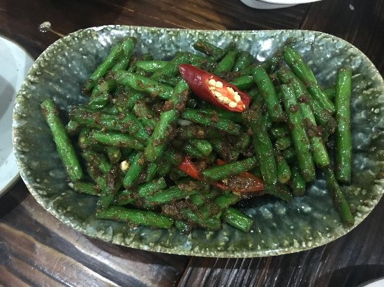 Ashfield, Australia: Belacan French beans