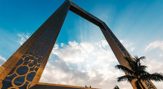 Experience a picturesque view at Dubai Frame