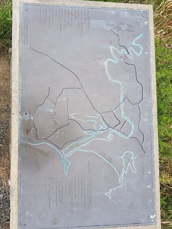 Waikouaiti, นิวซีแลนด์: Map of local areas from viewpoint.