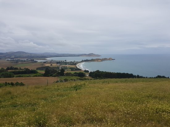 Waikouaiti, นิวซีแลนด์: View down to the Pa