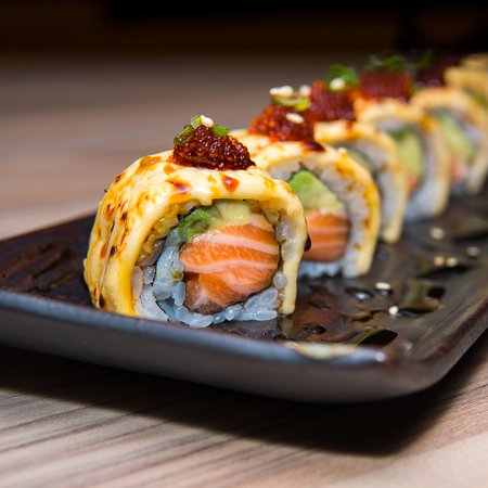 Grilled Cheese Salmon Roll Picture Of Seiryu Sushi Centralfestival Eastville Bangkok Tripadvisor