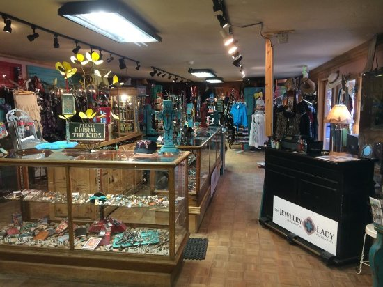 Jewelry Lady Red River - Frye's Old Town: A view into the boutique side of our store.
