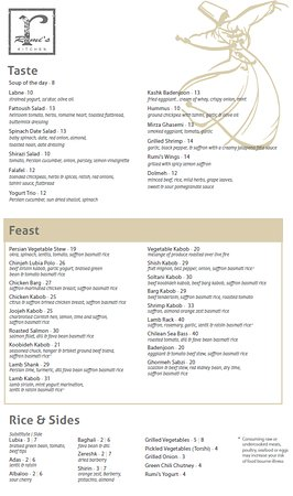 rumis kitchen menu - Rumis Kitchen Menu
