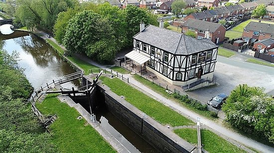 Wigan, UK: Aerial view