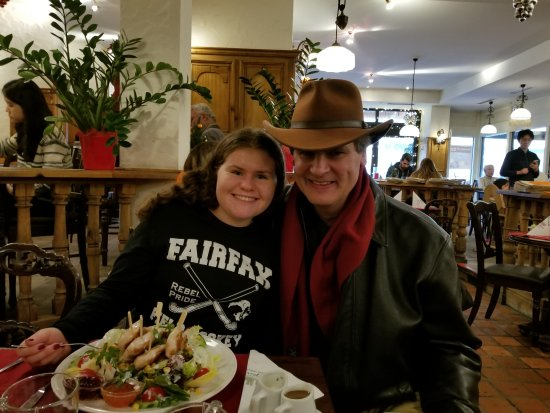 Big Hat Tours: He suggested a great place to eat.