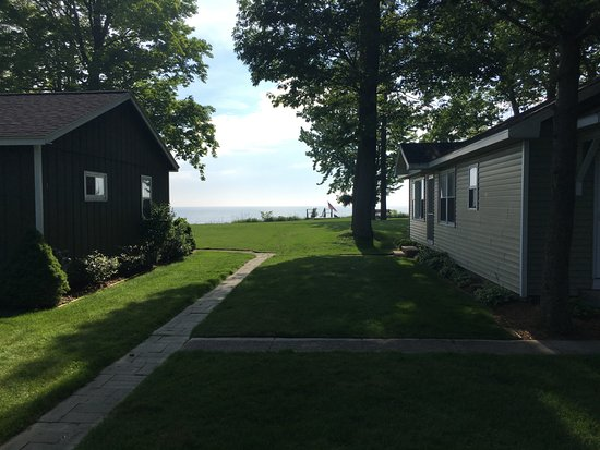 North Muskegon, MI: Amazing lake view from the back patio.