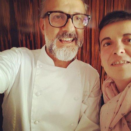 Marano sul Panaro, Italy: Incontro fra la chef Catia Fornari e il grande Maestro Chef Massimo Bottura