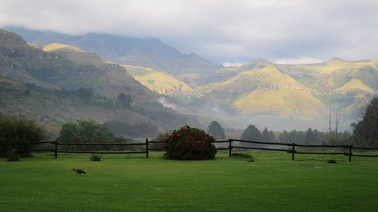 Drakensberg Mountains: view from Champagne Castle hotel