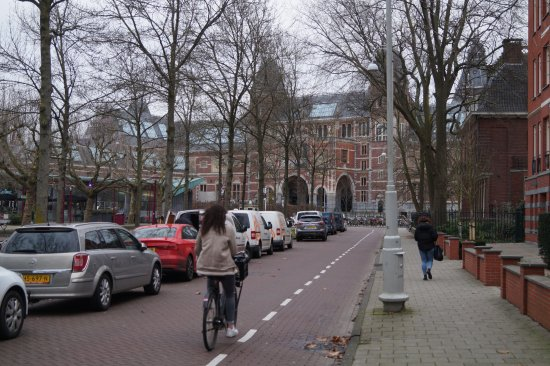 This is the Rijksmuseum. Walk around the back of the hotel about 100 metres for this view