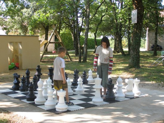 Salignac-Eyvigues, Frankrig: Le jeu d'échec, c'est génial !