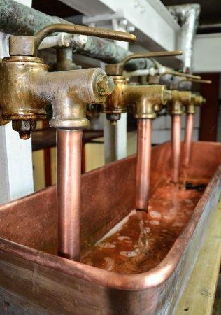 Hook Norton, UK: Beer taps