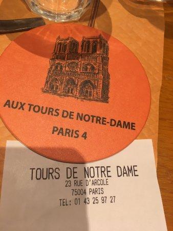 Aux Tours De Notre Dame Tripadvisor