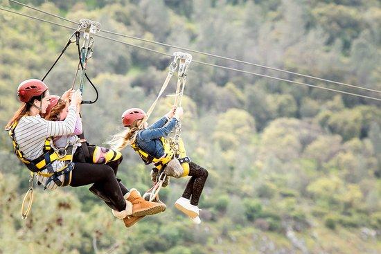 Vallecito, Californie : Twin zip lines - 1500 feet of thrilling speed!