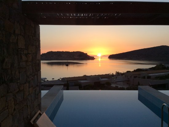 Blue Palace, a Luxury Collection Resort & Spa, Crete: Sunrise over Spinalonga, Crete.