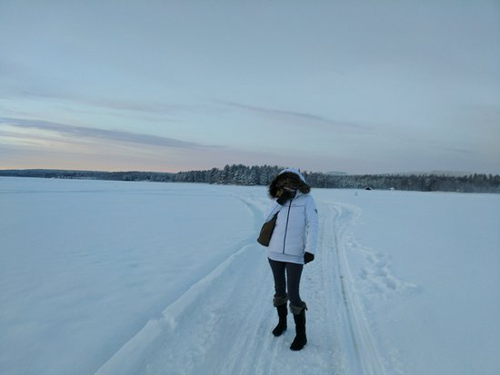 Sinetta, Finland: walk straight out onto the (frozen) lake