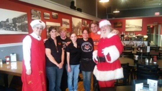 Clare, MI: Santa and his wife visit The Blind Tiger