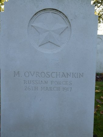 Mons, Belgique : Grave of Russian Soldier, died 1917