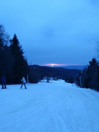 Oscadnica, Slovakia: Skiing after the main season is very peaceful, even if the weather conditions didn't allow much