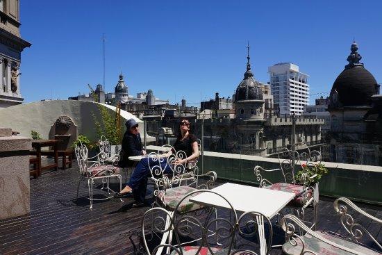 Tango de Mayo Hotel: terraza
