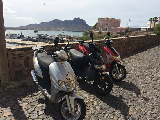Mindelo, Cabo Verde: Zoom Zoom scooters for rent!