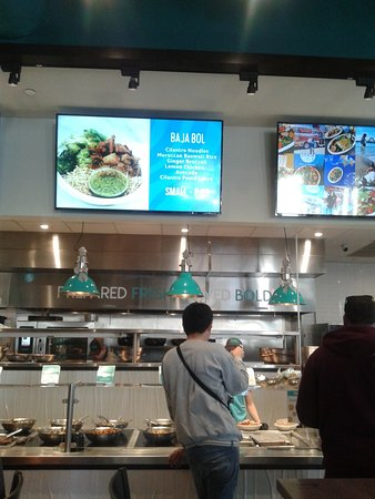 counter with food choices - Picture of Bolay - Palm Beach